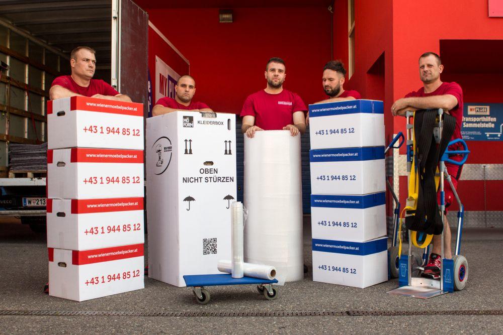 Übersiedlung Wien-Verpackungsmaterial