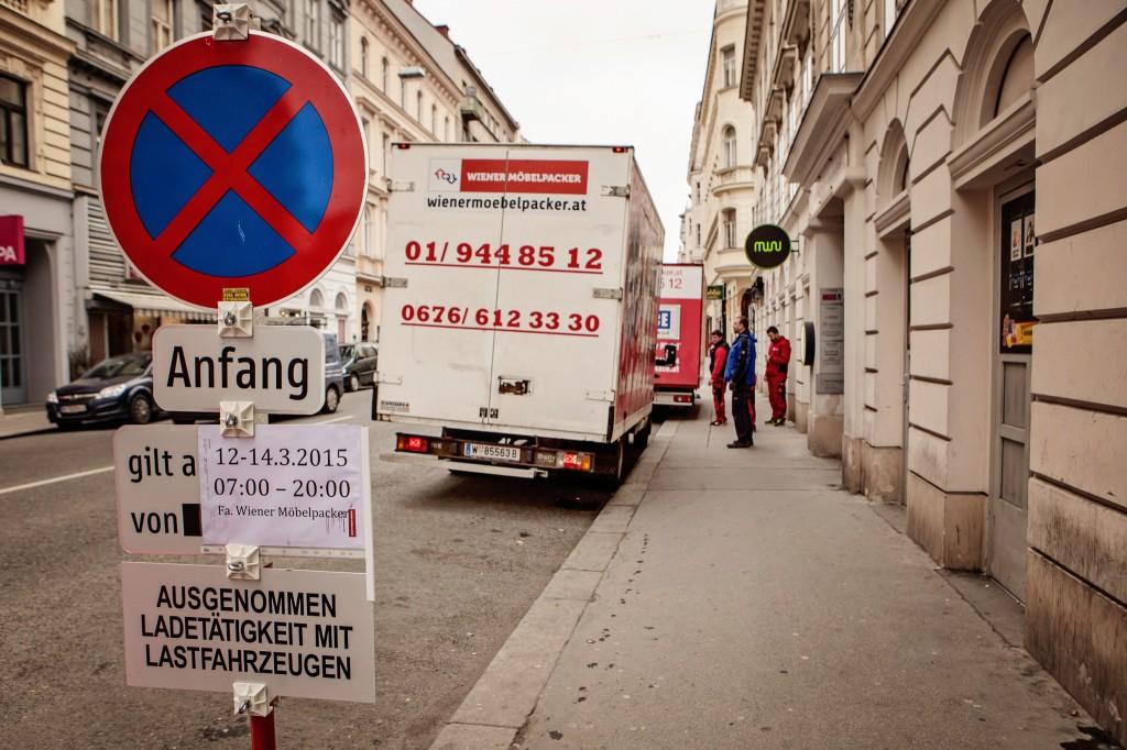 Übersiedlung Wien- Halteverbotszone